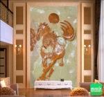 Nhận in trang trí nhà 3 tầng với tranh dán tường 3D khổ dọc tại Việt Nam Printing