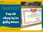 Top 10 địa chỉ xưởng công ty in giấy khen, bằng khen giá rẻ, lấy gấp, số lượng ít theo yêu cầu TPHCM