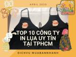 Top 10 công ty in lụa uy tín tại TPHCM - Danh sách các công ty in lụa tại TPHCM