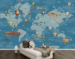 Thiết kế in ấn giá rẻ TPHCM - In decal dán tường hình bản đồ thế giới