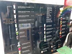 Menu quán trà sữa – In ấn menu treo tường