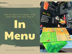 Top 10 công ty in menu thực đơn theo yêu cầu TPHCM