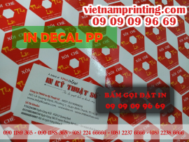 In decal PP, xưởng in decal PP giá rẻ tại TPHCM