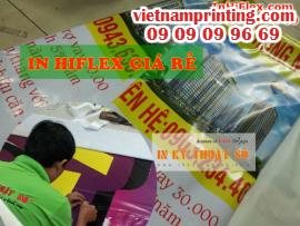 In hiflex giá rẻ TPHCM, xưởng nhận in quảng cáo với bạt hiflex ngoài trời giá rẻ