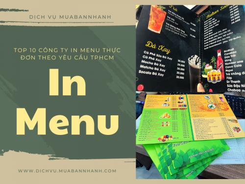 Top 10 công ty in menu thực đơn theo yêu cầu TPHCM, 292, Ngân Nguyễn, Chuyên trang cộng đồng In ấn và bao bì của MuaBanNhanh, 06/05/2020 11:30:44