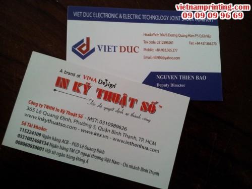 Business Cards, 7, Minh Thiện, Chuyên trang cộng đồng In ấn và bao bì của MuaBanNhanh, 02/08/2016 14:39:47