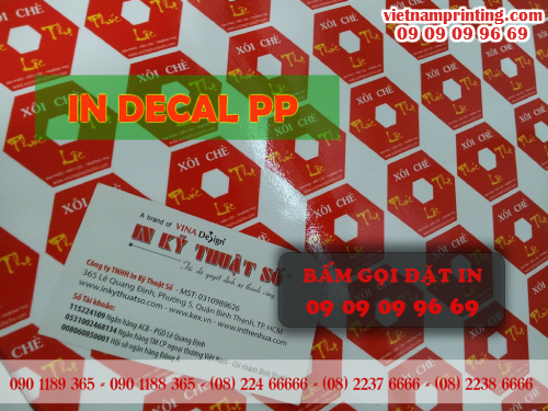 In decal PP, xưởng in decal PP giá rẻ tại TPHCM, 66, Minh Tâm, Chuyên trang cộng đồng In ấn và bao bì của MuaBanNhanh, 26/06/2015 16:36:54