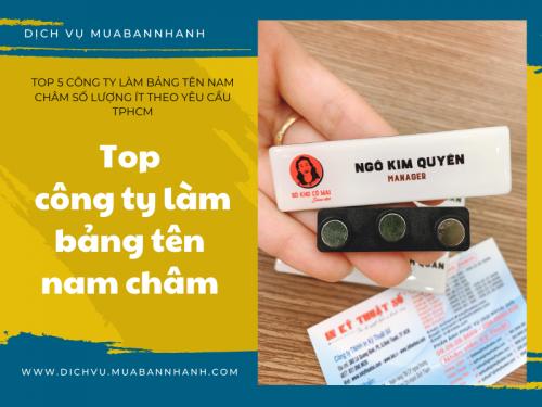Top 5 công ty làm bảng tên nam châm số lượng ít theo yêu cầu TPHCM