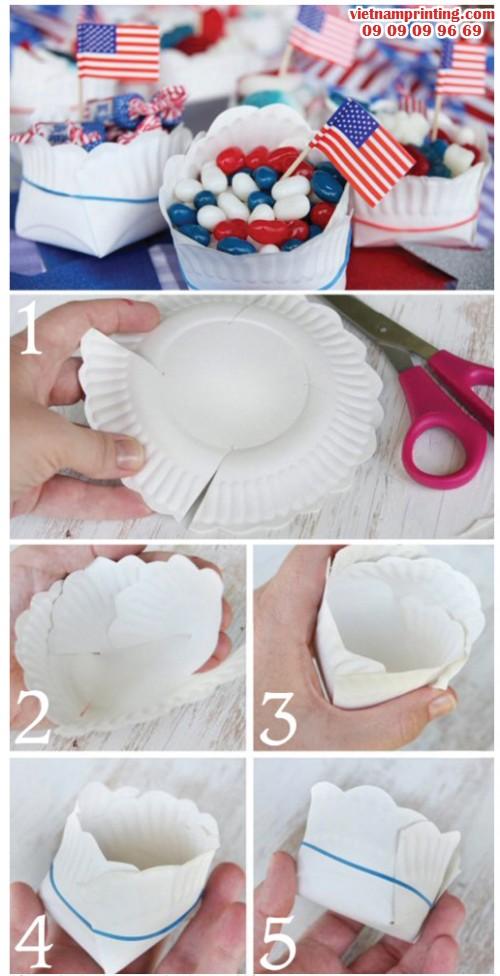 Tự làm khay 5 giây từ đĩa giấy