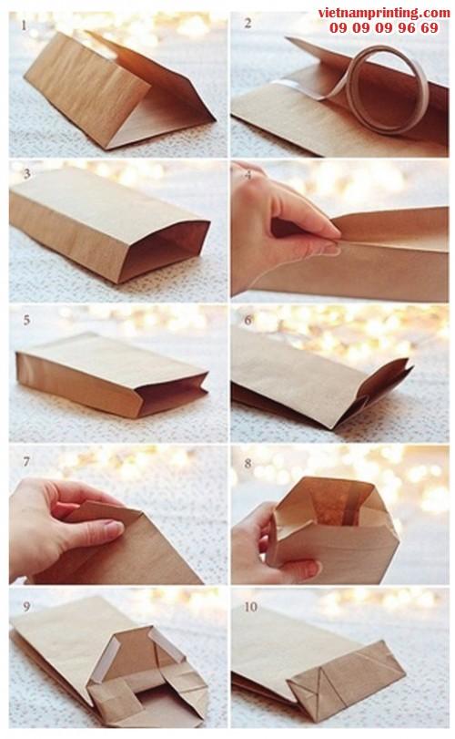 Chiếc túi giấy tái chế