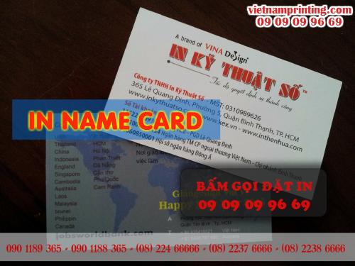 In name card giá rẻ HCM cùng Công ty TNHH In Kỹ Thuật Số - Digital Printing